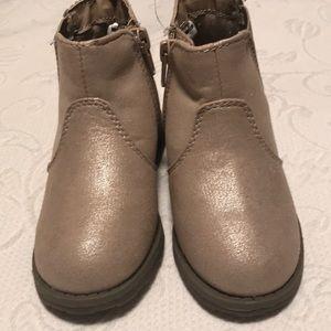 Carter's Shoes - Carter's girls tan/gold booties, size 8.